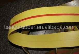 Flat transmission belt yellow color