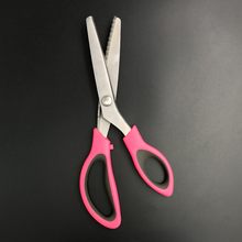 Heated Zigzag Fabric Cutting Leather Scissors
