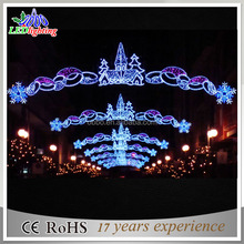 2017 new Outdoor led christmas decorations motifs cross street light