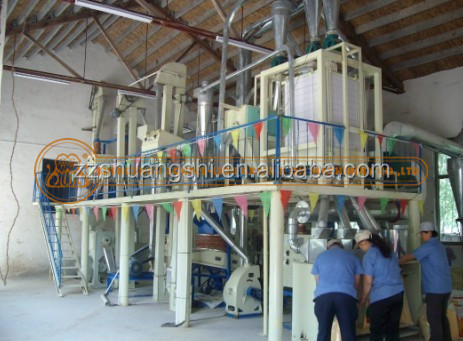 Full automatic 10-200ton per day flour making machine, flour mills, wheat/maize/corn grinding machines