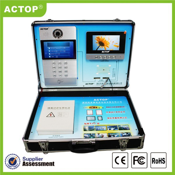 Hot sale ACTOP Fulll digital smart home building tcp ip video intercom system