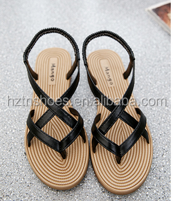 Fashion Shoes Women Flip Flop Sandal Wholesale Ladies <strong>Flat</strong> Espadrille Sandals