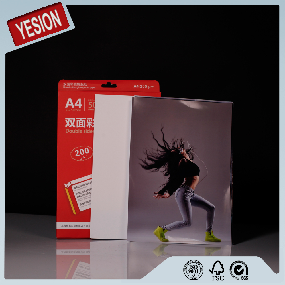 2016 china manufacturer best quality professional glossy photo paper double sided in china