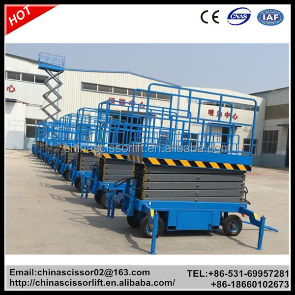Trailer Mounted Scissor Lifts Aerial Work Platforms