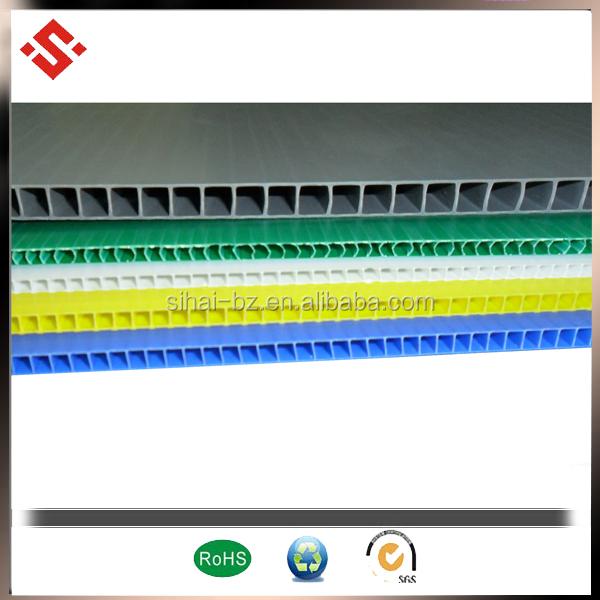 printing used pp corrugated sheet