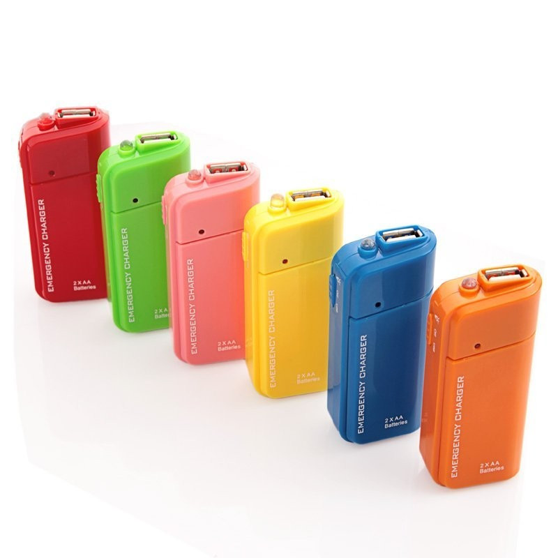 outdoors AA battery emergency usb travel charger,mobile phone power bank