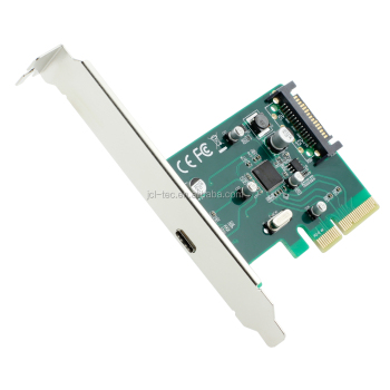 PCI-E Express 4x to USB 3.1 Type C USB-C Add on Expansion Card Adapter With Low Profile Bracket
