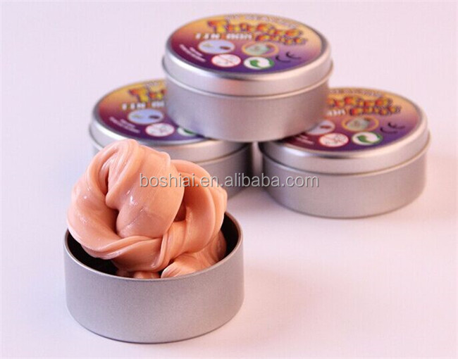 wholesale price metal packaging tin box magnetic jumping clay