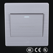 New style 86 type stainless steel one gang one way switch, switch plates , wall plates
