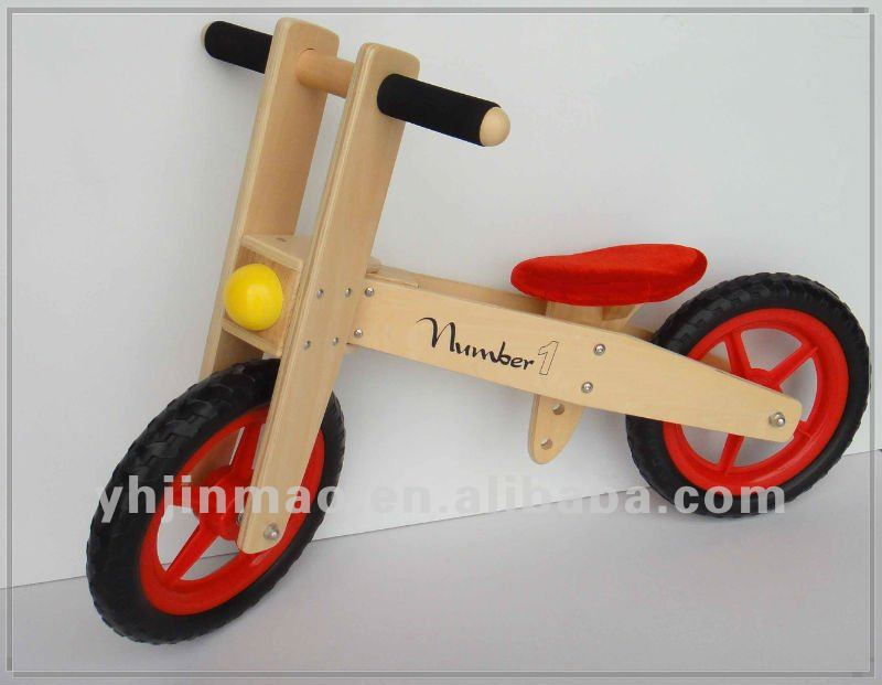 2015 newest wooden eva balance bike without kids pedals