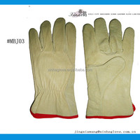 Factory supply leather safety glove for shipbuilding; welding; building