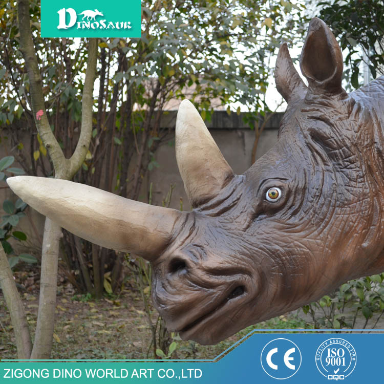 Movable Remote Control Resin Rhinoceros Statue