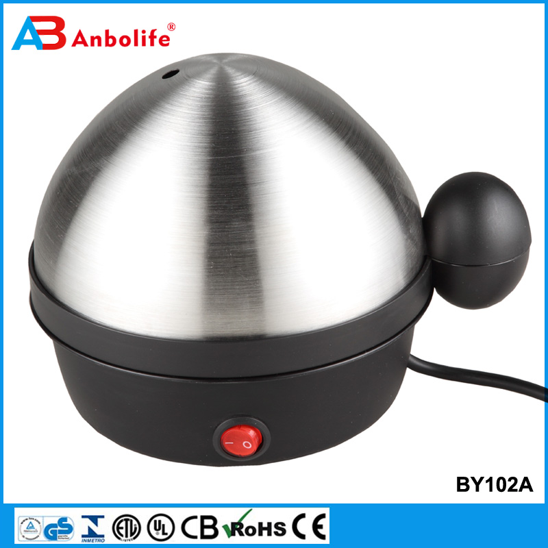 Anbo 2017 New Design matic double lay huge capacity 7 egg boiler hot selling electric stainless steel egg cooker poacher