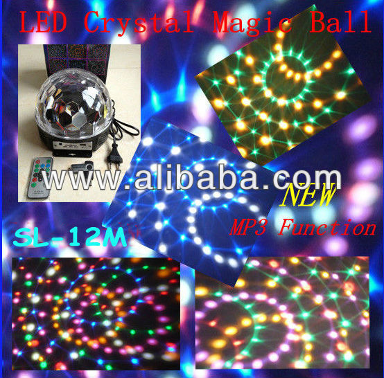 LED crystal ball christmas ligh with MP3 multi-function (SL-12M)