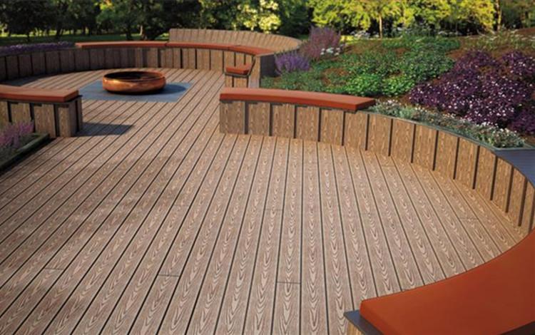 Plastic planks texture wood wpc floor outdoor wood for 2 4 metre decking boards