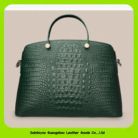 15639 No Brand Real Leather Crocodile Skin Woman Zipper Clutch Bags Business Office Lady Handbags