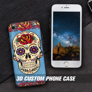 China Product Slim Custom 3D UV Printing 2 in 1 OEM Smartphone Case For iPhone 7