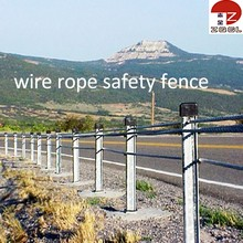 Road Wire Rope Barrier Fences