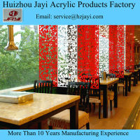 Custom acrylic engraving restaurant commercial hanging curtain room divider