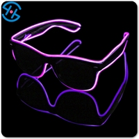 Custom electro luminescent el wire led sunglasses for party