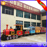 Amusement tourist trackless train adult rides electric train sets for adults