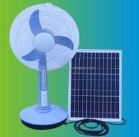 Factory Popular design solar fans price good 12v dc table fan with led light