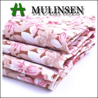 Shaoxing Mulinsen textile soft handfeeling polyester stretch twist satin fabric flower