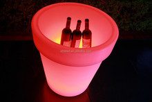 PE plastic UV resistant waterproof rechargeable battery RGB color changing LED flower pots planters