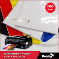Premium 100g Fast dry sublimation transfer paper A4 for mugs/ textiles