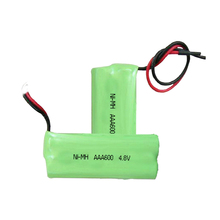 Top quality green power 600mah 4.8V rechargeable ni-mh battery pack