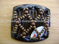Africanbutterfly Wooden beads Hair Clip
