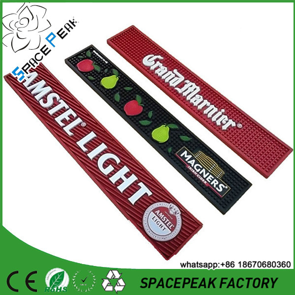 OEM Printing Promotional Rubber Bar Mat custom rubber bar spill mat bar runner beer drip mat
