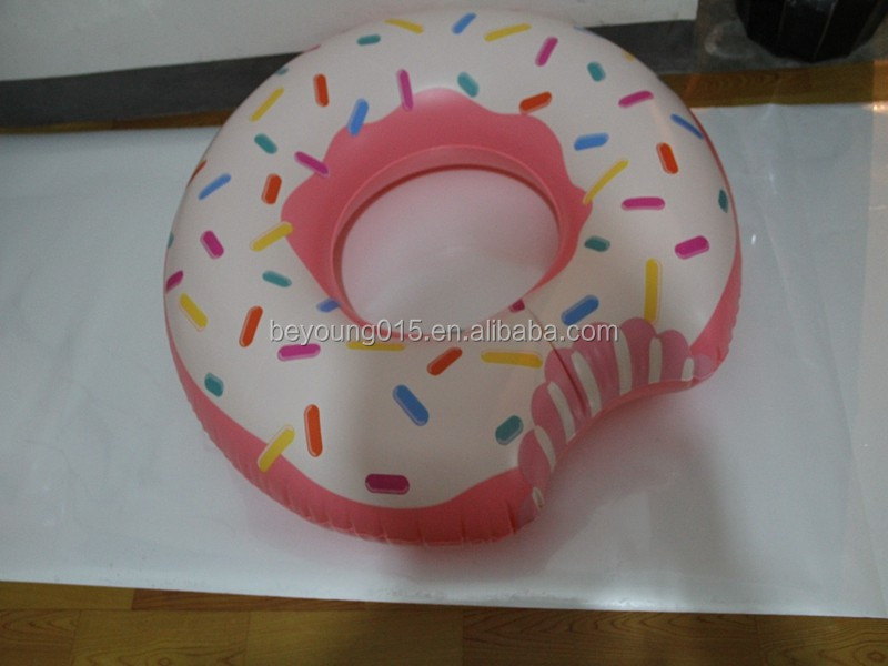 2017 new Intex donut tube cheap price inflatable donut float swimming pool swimming tube