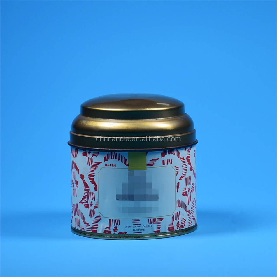 2017 new design candle jar with metal lid