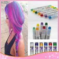 Hair Color Professional Wholesale 12 Colors For U Pick Non-toxic Temporary Pastel Hair Dye Color Hair Colors Pen