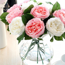 1PC European Single Vivid Silk Flower Rose Artificial Flowers for Party Wedding Home Decoration 30cm