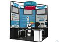 corner expo stands portable trade show expo stands display, free design expo stands system