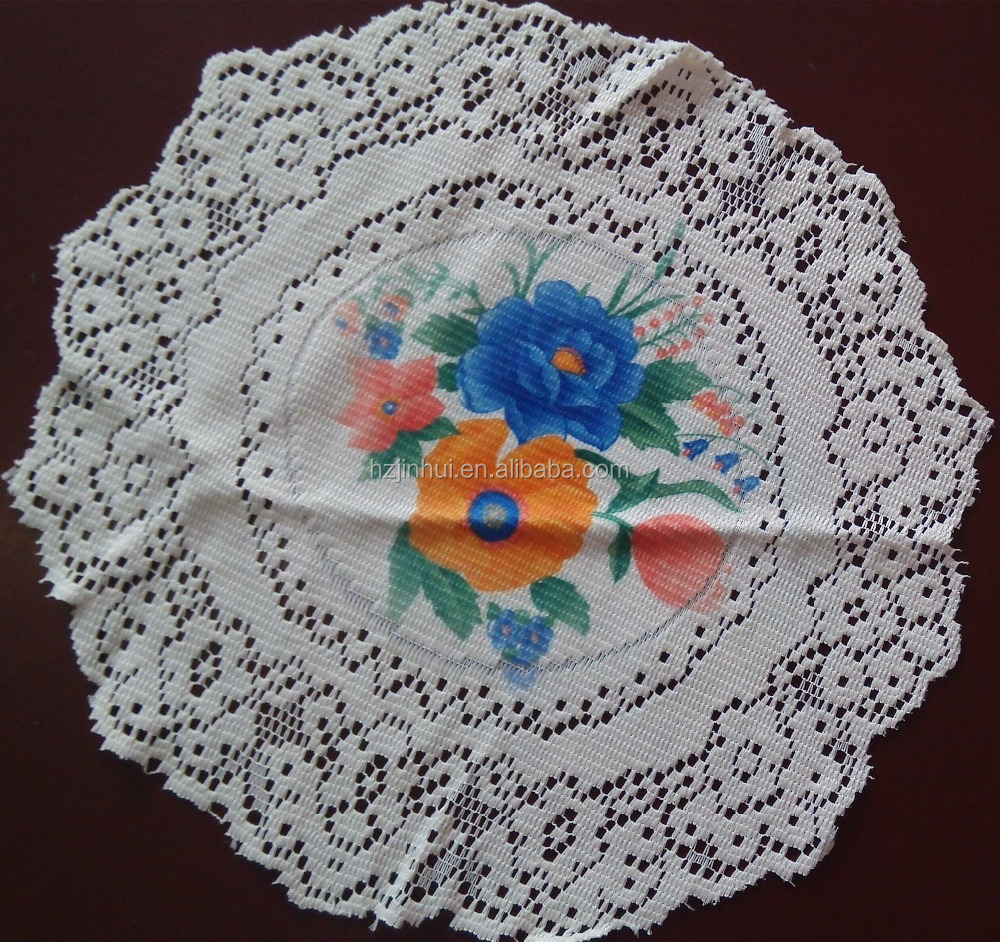 Printed Round lace doily or lace placemats