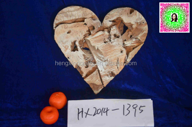 Wood Christmas Star Heart Shaped Art and Crafts