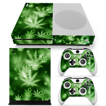 Green leaves-new design skin sticker and easily paste vinyl wrap printer cover for Xbox one S
