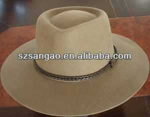 wholesale camel wide brim ladies white plain church hats for men and women with wool felt material making