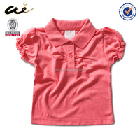 comfortable European New Style baby v-neck t-shirt;baby girl tee shirt