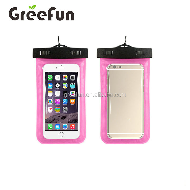 2017 Factory Wholesale Transparent Waterproof Phone Case Cellphone Dry Bag Universal