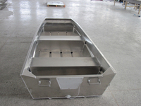 CE Certificate Cheap Flat Bottom Aluminum Non Riveted Jon Boats