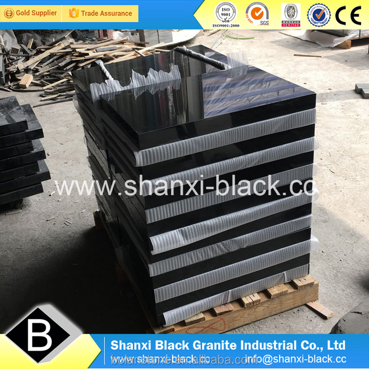 Natural china shanxi absolute black granite stone factory tombstone memorial for Georgian Georgia style monuments