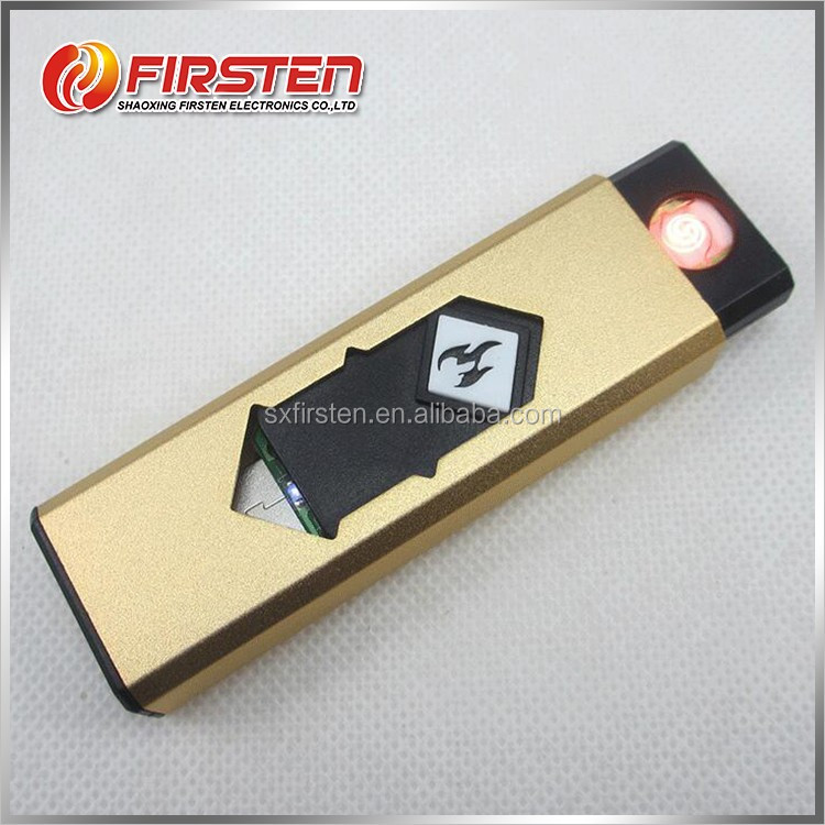 Good quality custom different color square flameless cheap custom lighter with usb