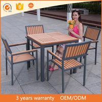 Components For Furniture Model Plastic Wooden Garden Dining Table Set Outdoor
