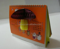 HOT! 3d handmade paper desk calendar design