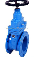 DIN EN 1171 ductile cast iron resilient seated wedge gate valve