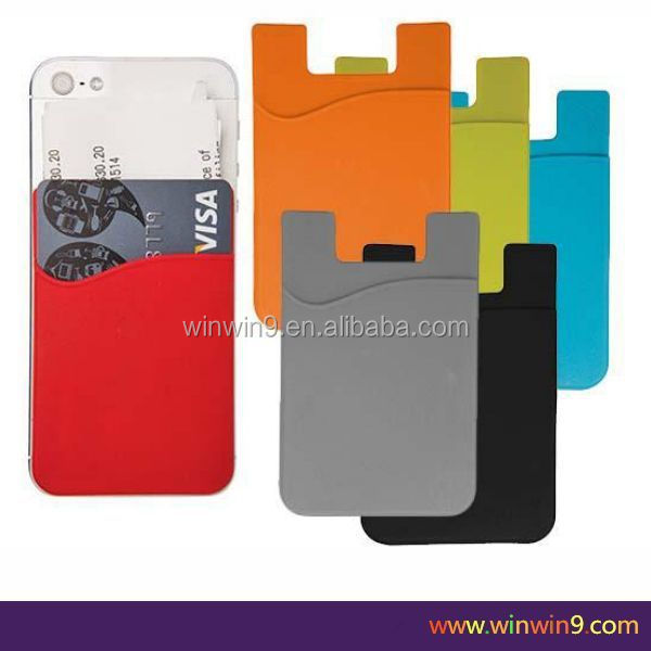 New Style OEM ODM Non-Toxic Silicone Custom Design wallet with mobile phone holder